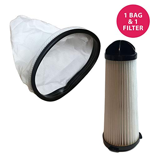 (Think Crucial Replacement for Hoover Backpack Vacuum Bag & HEPA Style Filter Fits C2401 Commercial Backpack, Compatible with Part # 2KE2110000 & 2-KE2110-000)