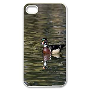 IPhone 4/4s Cases Ducks 3 Cute for Girls, Iphone 4s Cases for Girls Cheap Naza, [White]