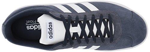 Adidas Mens Vl Court 2.0, Grigio Tre / Grigio Due / Gomma, 10,5 M Us Collegiale Blu / Bianco / Bianco