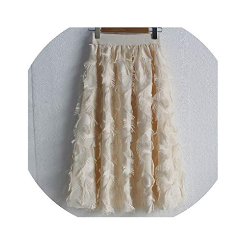 Tulle Skirts Women's Elastic High Waist Fake