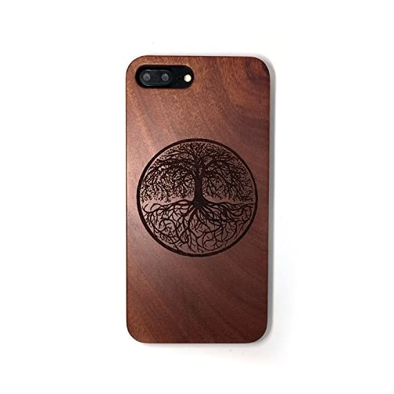 BTHEONE iPhone 7 PLUS Case, Slim Wood Protective Cover Case for iPhone 7 PLUS ,Handmade Natural Solid Wood Case,Real wooden Case (Rosewood-Yggdrasill) 1 √ Compatible with iPhone 7 Plus (Not for iPhone7) √ Naturally wood different,each wood back has a unique grain and texture. √ Specially designed for iPhone 7 Plus, has precise design for speakers, charging ports, audio ports and buttons.