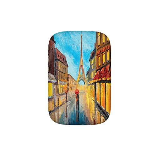 Couple with Umbrella on Historical Street to Eiffel Tower Paris Portable Charger 8000mAh Power Bank External Battery Backup Pack Fast Charger for iPhone,Samsung Galaxy and More
