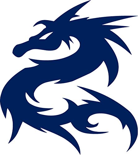 ANGDEST Tribal Dragon (Navy Blue) (Set of 2) Premium Waterproof Vinyl Decal Stickers for Laptop MacBook Phone Tablet Helmet Car Window Bumper Mug Tuber Cup Door Wall Decoration