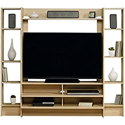"Sauder 418182 Entertainment Wall System, Urban Ash Finish, Holds up to a 42"" TV weighing 50 lbs. or less."