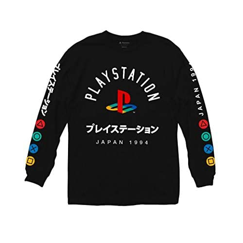 Ripple Junction Playstation Logo with Japanese Colored Button Long Sleeve Shirt