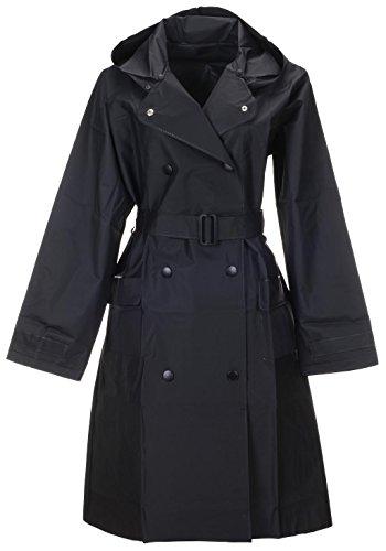 Black Long Raincoat - 4