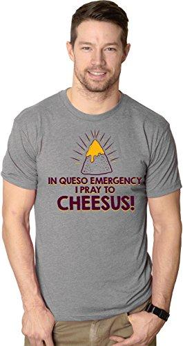 Crazy Dog TShirts - Mens In Queso Emergency Pray to Cheesus Cinco De Mayo T shirt - herren -