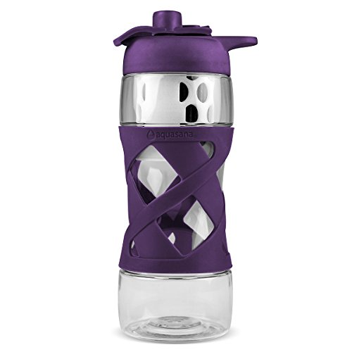 Aquasana AQ-PB-PLUM Aquasana Filter Water Bottle, Plum Aq 4100 Shower Filter