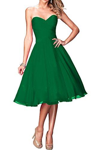 mujer Vestido para Verde Topkleider trapecio qw0Y1wt