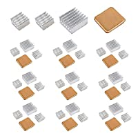 40 PCS Raspberry Pi Heatsink Kit by Lanpu, High Performance Aluminum Heatsink for Raspberry Pi B B+ 2 and 3, Heatsink Copper Pad Shims, with thermal conductive adhesive tape