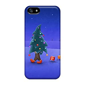 Faddish Phone Walking Christmas Tree Case For Iphone 5/5s / Perfect Case Cover