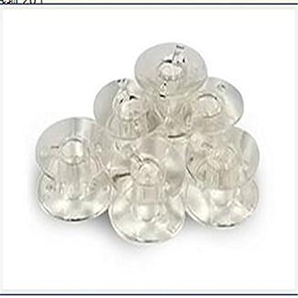 nicebuty 20pcs plástico bobinas para máquina de coser doméstica para Brother Janome Singer transparente