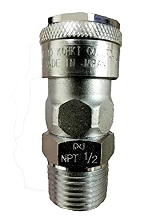 Hose Barb Nitto Kohki Hi Cupla 30SH Quick Connect Pneumatic Coupler Socket 3//8 Size Steel 218 PSI