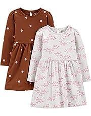 Simple Joys by Carter's Girls 2-Pack Long-Sleeve Dress Set