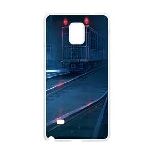 Samsung Galaxy Note 4 Cases Dark Train Station, Railway [White]