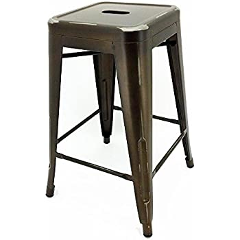 Amazon Com Tabouret 24 Inch Vintage Counter Stool Set Of