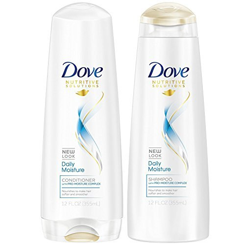 Dove Daily Moisture Shampoo and Conditioner 12oz Combo SET **Package May Vary** Dove Moisturizing Shampoo Conditioner