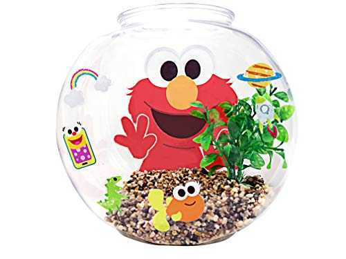 Penn-Plax Officially Licensed Sesame Street Elmo's World Fish Bowl Kit – Great Way to Teach Young Beginners How to…