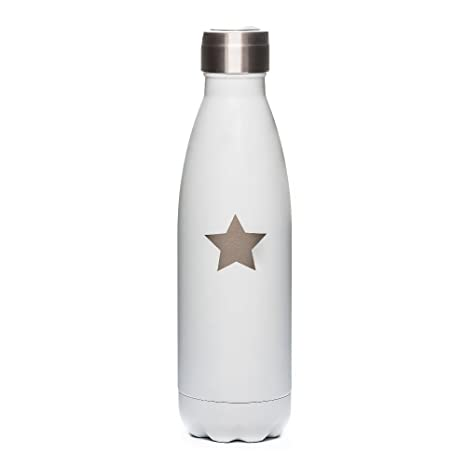 YOKO DESIGN 1452 shinybottle Fluorescentes, Botella Acero Inoxidable Blanco, Acero Inoxidable, Blanco, 500 ml