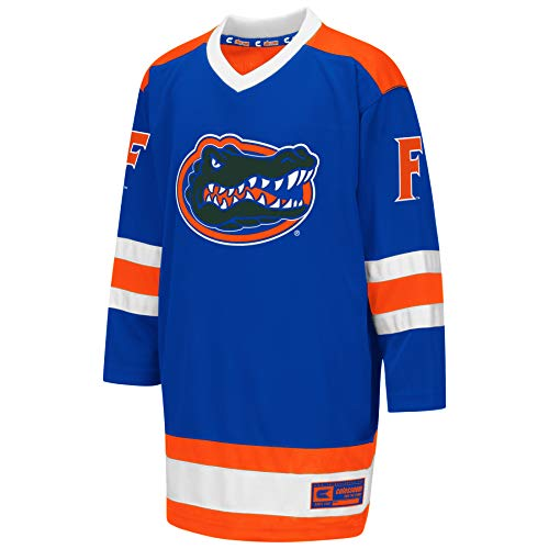 Colosseum NCAA Youth Boys Athletic Machine Hockey Sweater Jersey-Florida Gators-Youth XL