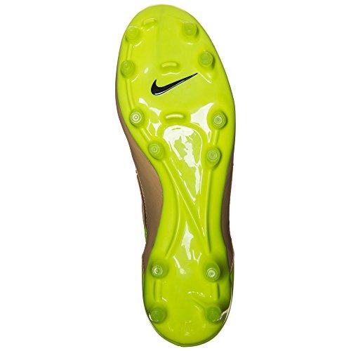 Nike Herren Magista Orden Lthr FG Fußballschuhe Gold / Schwarz / Grün (Leinwand / Schwarz-Volt)