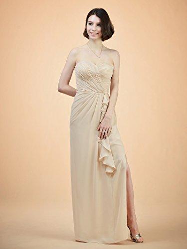 Robe De Lavande Robe De Soirée Bustier De Soirée Colonne Robe De Demoiselle D'honneur Longue Des Femmes Alicepub