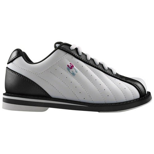900 Global 3G Kicks Black/White Unisex Bowling Shoes (7 1/2) by 900 Global