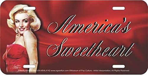 Signs 4 Fun Marilyn Monroe America's Sweetheart Metal License Plate