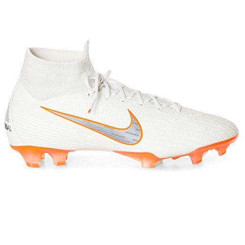 (Nike Men's Superfly 6 Elite FG White/MTLC/Cool Grey)