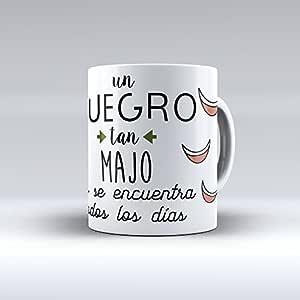 APRIL Taza cerámica Desayuno Regalo Original cumpleaños suegro Un suegro Tan majo no se Encuentra Todos los días