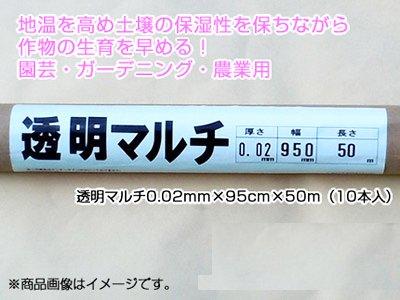 1本あたり680円! 透明マルチ [透明マルチシート] 0.02mm×95cm×50m(10本入)【農業用】 【家庭菜園用】 B006BMEVBK