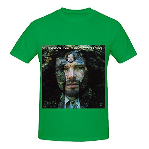 Van Morrison His Band And The Street Choir Pop Mens Music T Shirts Green