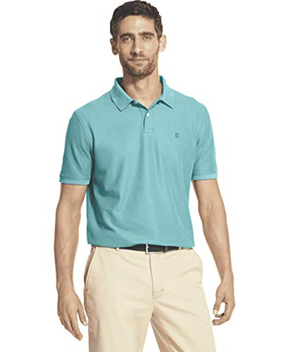 IZOD Men's Advantage Performance Short Sleeve Solid Polo, Blue Radiance, XX-Large ()