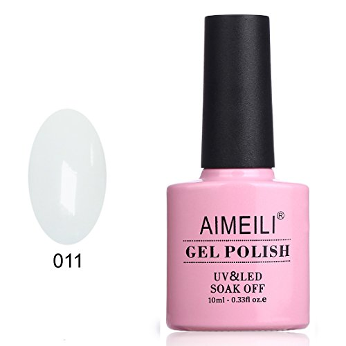 AIMEILI Soak Off UV LED Gel Nail Polish - Studio White Arctic White (011) 10ml