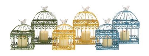 intricate metal bird cages