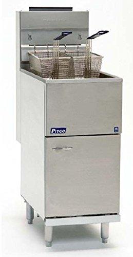 Pitco 40D Tube Fired Gas Floor Fryer 40-45 lb 115,000 BTU