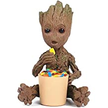Aikes Groot Action Figures Guardians of The Galaxy Cute Model Toy Eating Candies Home Decoration Best Gifts 7.1in