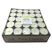 8-9 Hours Prime Quality Vegetable Palm Oil Wax Tealight candles-26 Gram Wax White Unscented Tea light Candles 50PACK