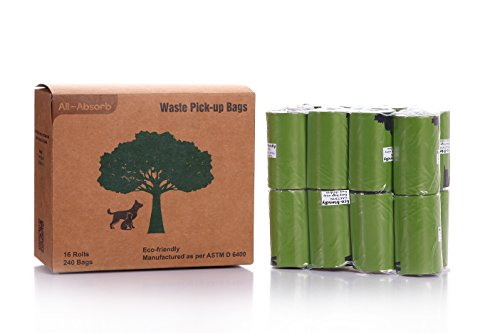 All-Absorb Eco-friendly Waste Pick-up Bags, 240 count (Pet Pickup)