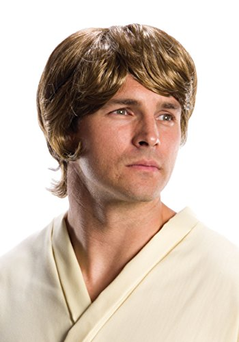 Rubies Costume Co. Inc mens Star Wars Adult Luke Skywalker Wig Standard (Adult Luke Skywalker Costume)