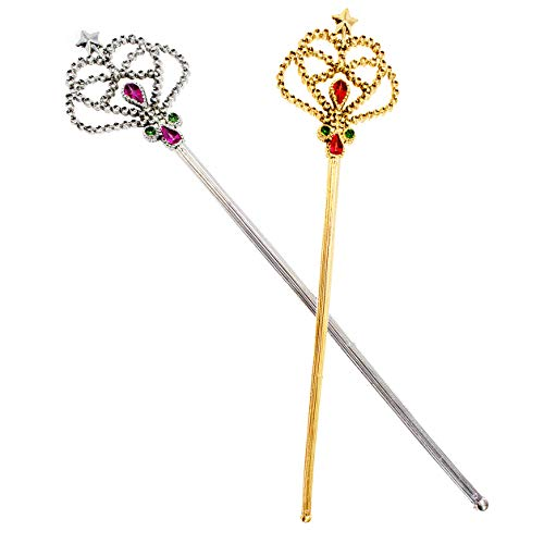 Tigerdoe Princess Wand - 2 Pack - Fairy Wand - Queens Scepters - Princess Costume Accessories - Role Play Dress Up]()