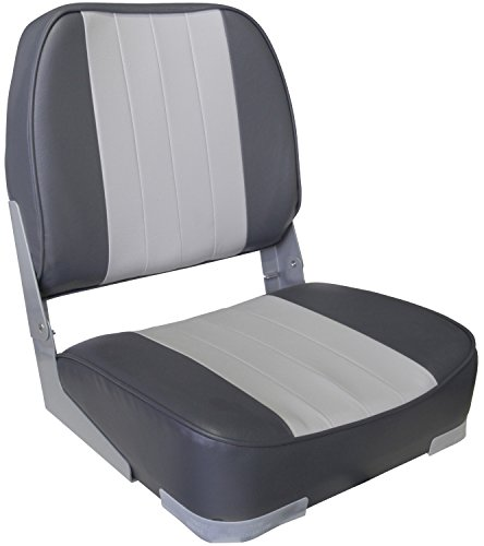Leader Accessories Deluxe Folding Marine Boat Seat (Gray/Charcoal)