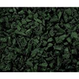 NuScape 100% Recycled Rubber Mulch, Twenty-Five 1.5' x 1.5' Bags - Forest Green