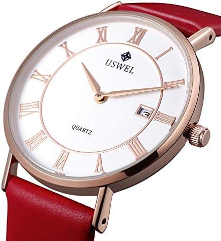 USWEL Minimalist Watches for Women 32mm Dress Watch Waterproof Roman Number Fashion Women s Watch
