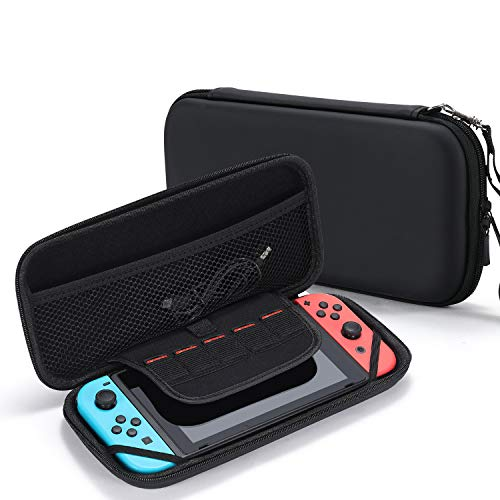 Tasikar Carrying Case Compatible with Nintendo Switch (Black)