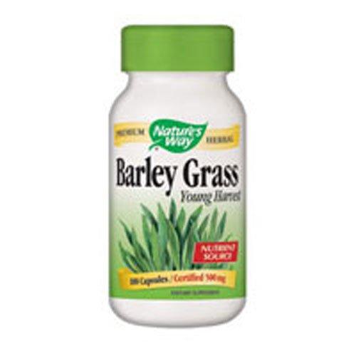 - Natures Way Barley Grass Capsule, 500 Mg - 100 per pack - 3 packs per case.
