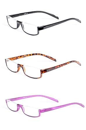 Amazon.com: LL Half Rim Rectangle Reading Glasses 1.00 3