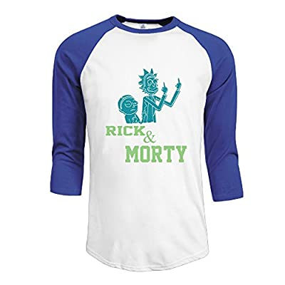 Men's Rick And Morty 100% Cotton 3/4 Sleeve Athletic Baseball Raglan Shirt