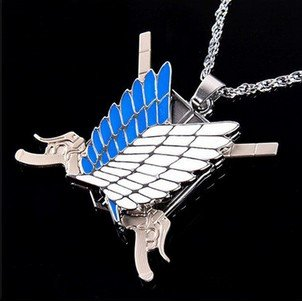 FATE Gintama Tokyo Ghoul One piece Attack On Titan Fairy Tail SAO Keychain Necklace Horse Wings