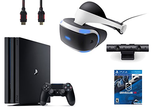 PlayStation VR Bundle 4 Items:VR Headset,Playstation Camera,PlayStation 4 Pro 1TB,VR Game Disc PSVR DriveClub